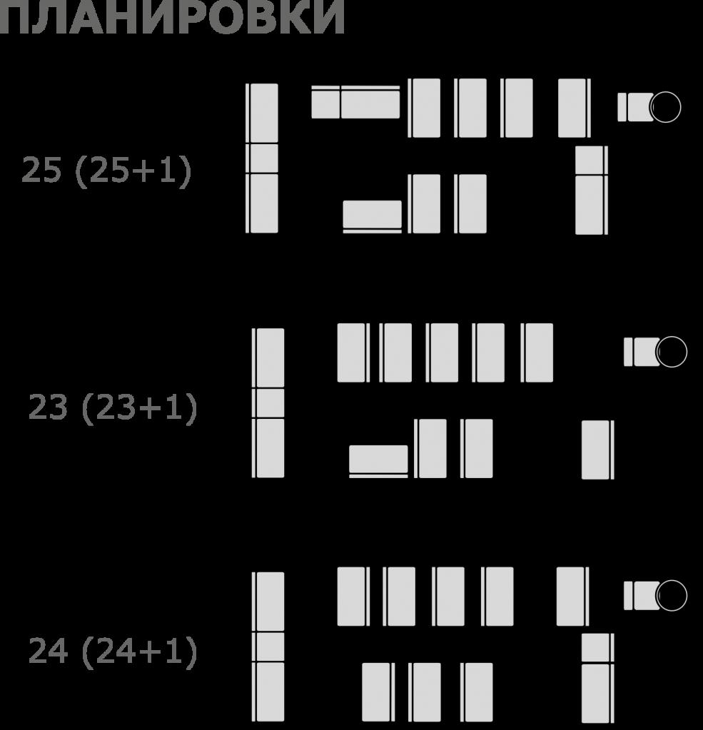 Планировка автобуса ПАЗ 3206